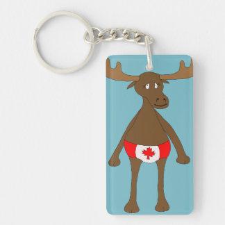 Canada Day Moose Key Chain