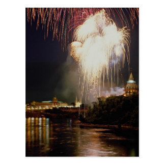 Canada Day on the Ottawa River, Ontario, Canada Postcard