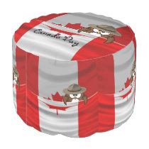 Canada Day owl Pouf