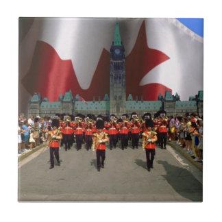 Canada Day Parade Small Square Tile