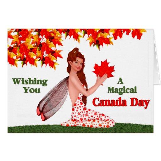 Canada Day Pixie Greeting Card Zazzle