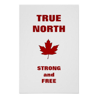 Canada Day Red Maple Leaf Anthem Poster