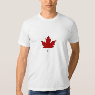 Canada Day Red Maple Leaf French Anthem T-Shirt