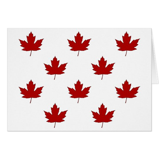 Canada Day Red Maple Leaf Pattern Greeting Card