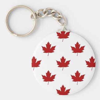 Canada Day Red Maple Leaf Pattern Keychain