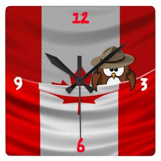 Canada Day Square Wall Clock