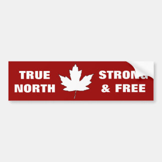 Canada Day White Maple Leaf Anthem Bumper Sticker