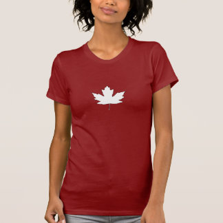 Canada Day White Maple Leaf French Anthem T-Shirt