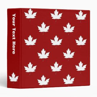 Canada Day White Maple Leaf Pattern Binder