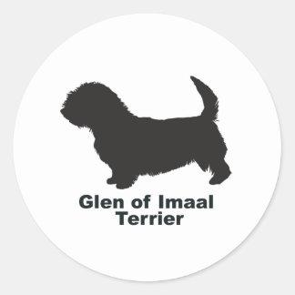 Cañada de Imaal Terrier Pegatina Redonda