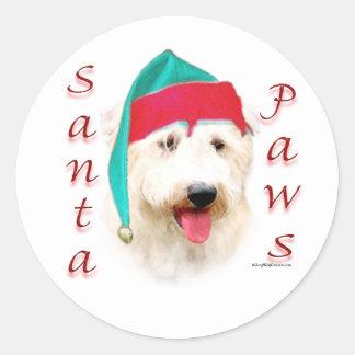 Cañada de las patas de Imaal Terrier Santa Pegatina Redonda