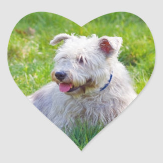 Cañada de los pegatinas del corazón del perro de pegatina en forma de corazón