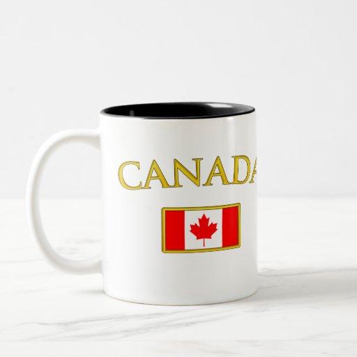 Canadá de oro taza de dos tonos