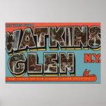 Cañada de Watkins, Nueva York - escenas grandes de Posters