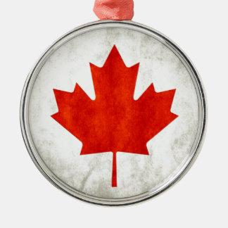 Canadá Adorno Redondo Plateado