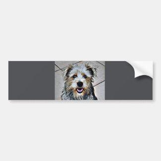 Cañada del arte pop de Imaal Terrier Pegatina Para Auto
