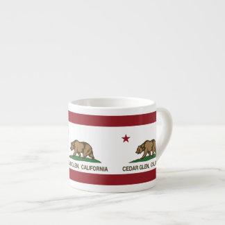 Cañada del cedro de la bandera de la república de  taza de espresso