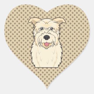 Cañada del dibujo animado de Imaal Terrier Pegatina En Forma De Corazón