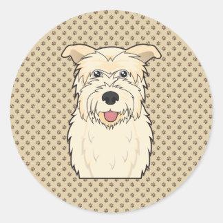 Cañada del dibujo animado de Imaal Terrier Pegatina Redonda