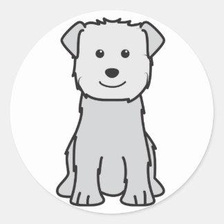 Cañada del dibujo animado del perro de Imaal Pegatina Redonda