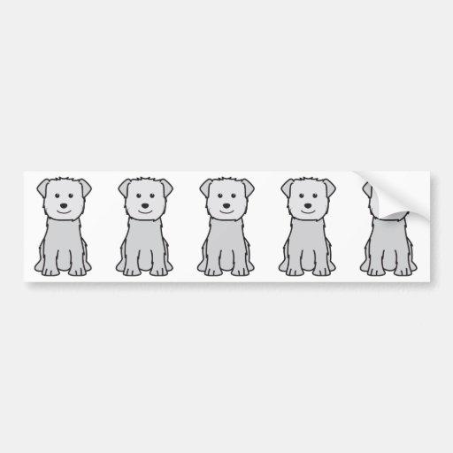 Cañada del dibujo animado del perro de Imaal Terri Pegatina Para Auto