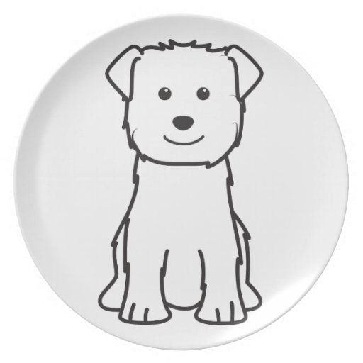 Cañada del dibujo animado del perro de Imaal Terri Plato Para Fiesta