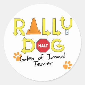 Cañada del perro de la reunión de Imaal Terrier Pegatina Redonda