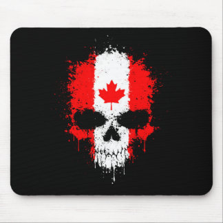 Canada Dripping Splatter Skull Mouse Pad