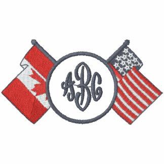 Canadá-EE.UU. - camisa del monograma