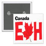 Canada Eh 2 Inch Square Button