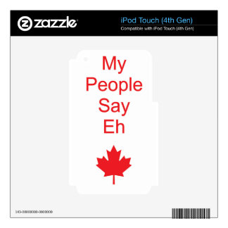 Canada eh iPod touch 4G skins