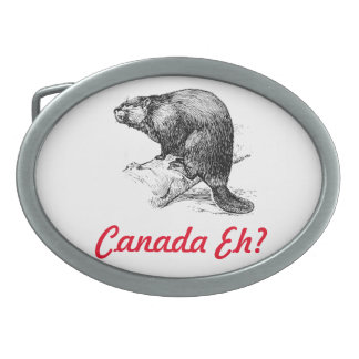 Canada eh ? Lighthouse Route Oval Belt Buckle