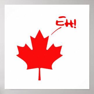 ¡Canadá Eh! Orgullo canadiense divertido Póster