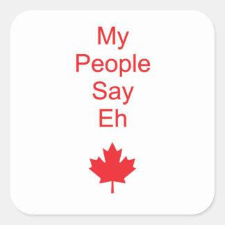 Canada eh square sticker