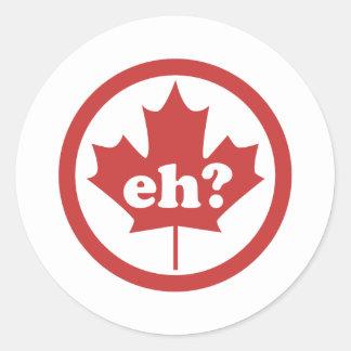 Canada Eh ? Round Stickers