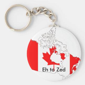 canada, Eh to Zed Basic Round Button Keychain