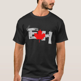Canada Eh with Red Maple Leaf T-Shirt