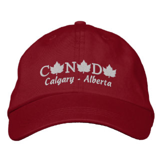 Canada Embroidered Red Ball Cap - Calgary Alberta