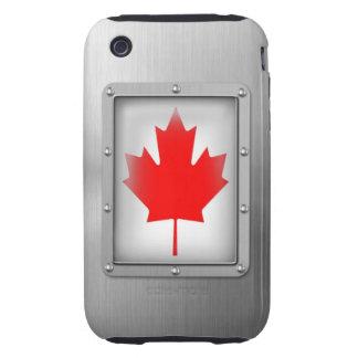 Canadá en acero inoxidable funda though para iPhone 3