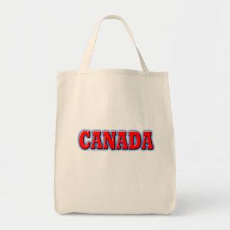 Canadá en letras rojas intrépidas bolsa tela para la compra
