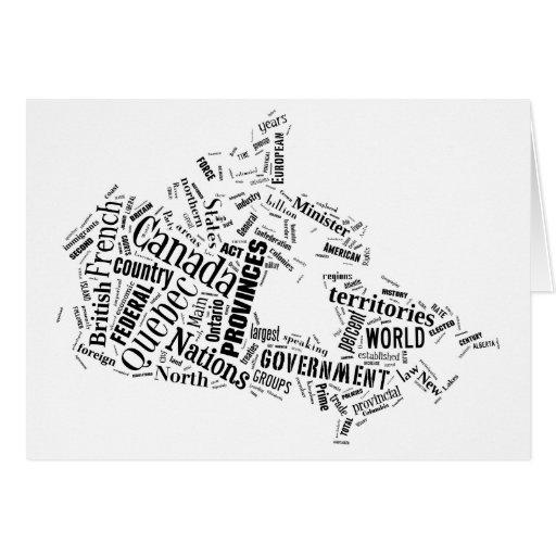 Canadá en Tagxedo Tarjeta De Felicitación