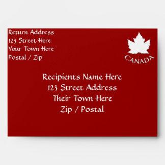 Canada Envelopes Personalized Canada Flag Envelope