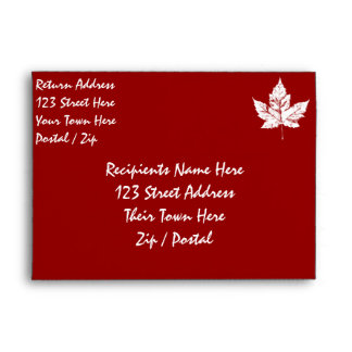 Canada Envelopes Personalized Cool Canada Envelope