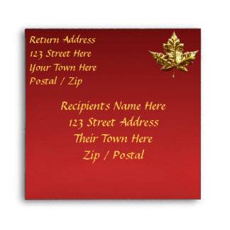 Canada Envelopes Personalized Gold Medal Envelope