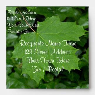 Canada Envelopes Personalized Maple Leaf Envelope