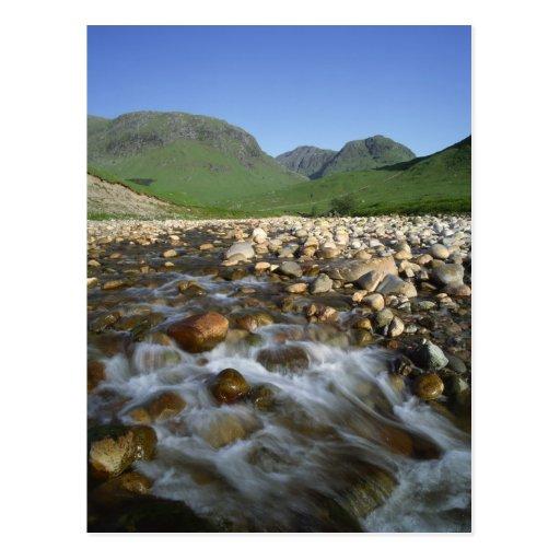 Cañada Etive, montañas, Escocia 2 Postales