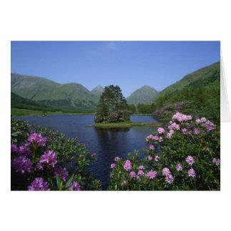 Cañada Etive, montañas, Escocia Tarjeta De Felicitación