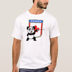 Men's Basic T-Shirt with Canadian Fencing Panda design
