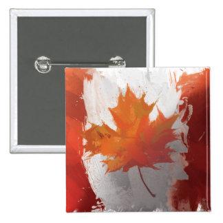Canada Flag 2 Inch Square Button
