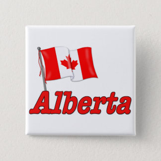 Canada Flag - Alberta Button